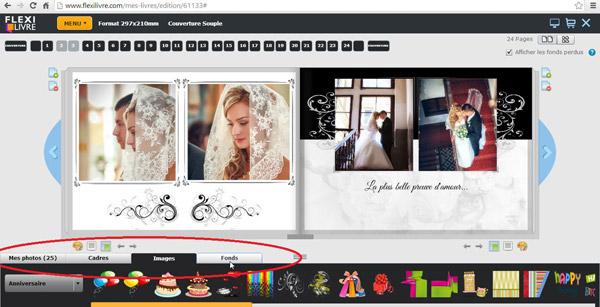 cr er son album photo de mariage. Black Bedroom Furniture Sets. Home Design Ideas
